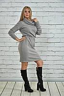 Женское Платье цвета серое  0367-3 (42-74)