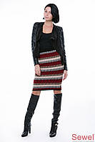 Женская вязаная юбка с узорами