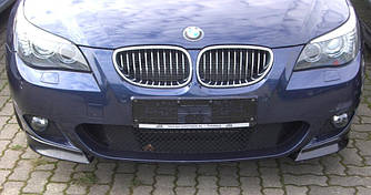 Накладки на передний бампер клыки обвес BMW E61 E61 M Sport Paket