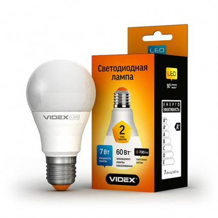 Светодиодная лампа LED 7W 4100K E27 VIDEX (A60e-07274), фото 2