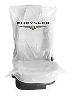 Чехлы накидки 400 шт. на  сидения  полиэтиленовые,  одноразовые  с логотипом  CHRYSLER
