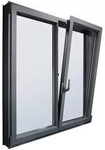 """Поворотно-откидное окно из """"холодного"""" алюминия, белое, Lorenzoline 40C, 1300*1400"""