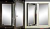 """Поворотно-откидное окно из """"холодного"""" алюминия, белое, Lorenzoline 40C, 1300*1400, фото 3"""