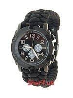 Часы водонепроницаемые армейские  MIL-TEC ARMY UHR PARACORD 15774002-904 Black