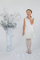 Нарядное платье для девочки с гипюром