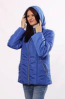 Женская демисезонная куртка  Murenna матовая электрик 30-52 размеры