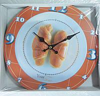 Часы кухонные круассан