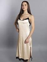"""Ночная рубашка """"SilkLine-86"""" длинная (цвет: кремовый)"""