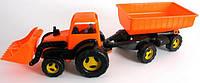Трактор с ковшом и прицепом, 5206