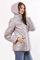Женская демисезонная куртка  Murenna комбинированная  сталь 30-52 размеры