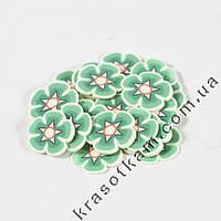 Фимо цветок тёмно-зелёный штанга