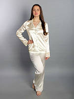 """Пижама """"SilkLine-15"""" штаны и рубашка (цвет: кремовый)"""