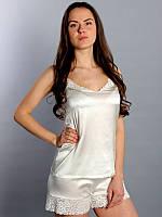 """Пижама """"SilkLine-18"""" шорты и майка (цвет: кремовый)"""