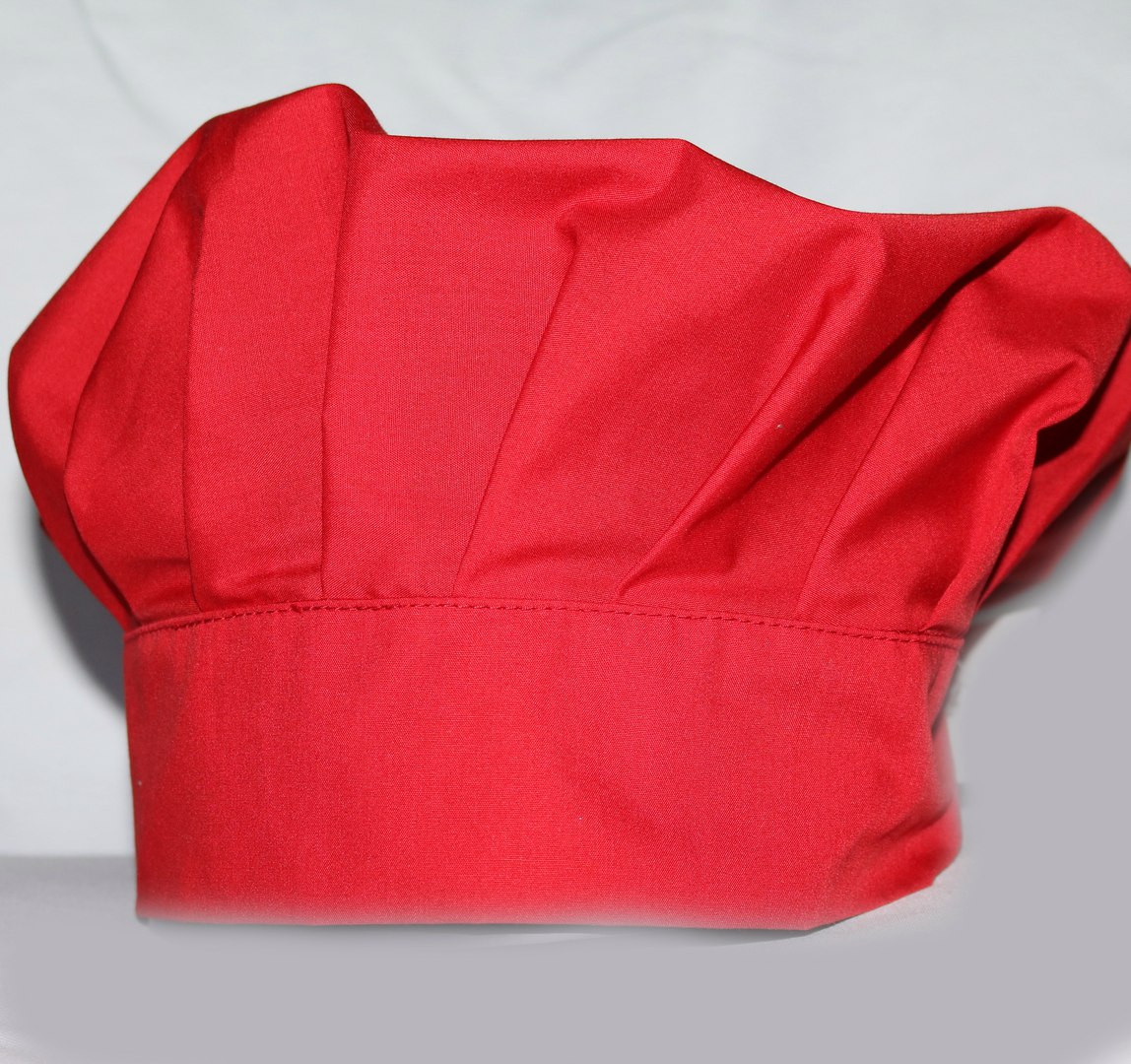 Шапка поварская «БИЗЕ» красная
