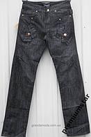 Джинсы черные мужские  пот 39 см