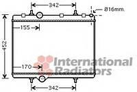 Радиатор охлаждения berlingo/xs pic/partner  (производство VAN WEZEL ), код запчасти: 40002281
