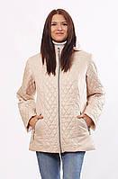 Женская демисезонная куртка  Murenna комбинированная бежевая 30-52 размеры