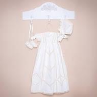 Платье Винтажное (вышивка - молочный) 313