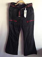 Зимние черные лыжные спортивные брюки на флисе 35,38,40,42,44р