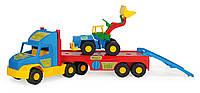 Машинка Эвакуатор с бульдозером серия «Super Truck» Wader, 36520, Вадер