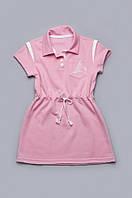 Платье детское для девочки с канатиком розовое