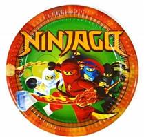 """Набор тарелок 10 штук """"Ниндзяго"""" размер 180 мм"""
