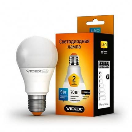 Светодиодная лампа LED 9W 4100K E27 VIDEX (A60e-09274), фото 2