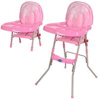 Детский стульчик для кормления GL 217-8 розовый***