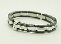 Мужские браслеты из стали с керамикой оптом .89