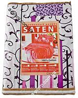 """Постільний комплект євро Сатин Gold, """"SATEN"""", забарвлення в асортименті"""