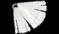 Демонстрационная палитра-веер на кольце, 50 типс (цвет прозрачный)