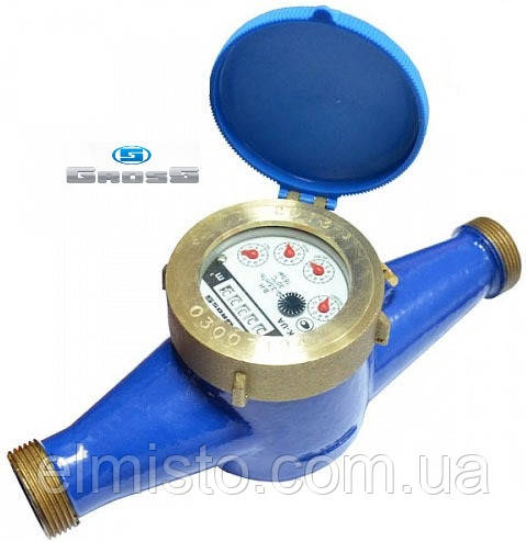 """Лічильник GROSS MTK-UA Dn25, L=260мм, Qn=6,3m3/год багатоструменевий на холодну воду 1"""""""