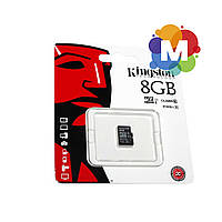 Карта памяти microSDHC, 8Gb, Class10 UHS-I, Kingston, без адаптера
