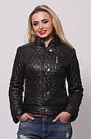 Короткая женская осенняя куртка  СК-1 черная 42-50 размеры