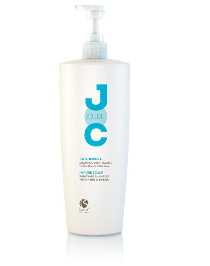 NEW Barex Joc Cure Очищающий шампунь с экстрактом белой крапивы 1000 мл.
