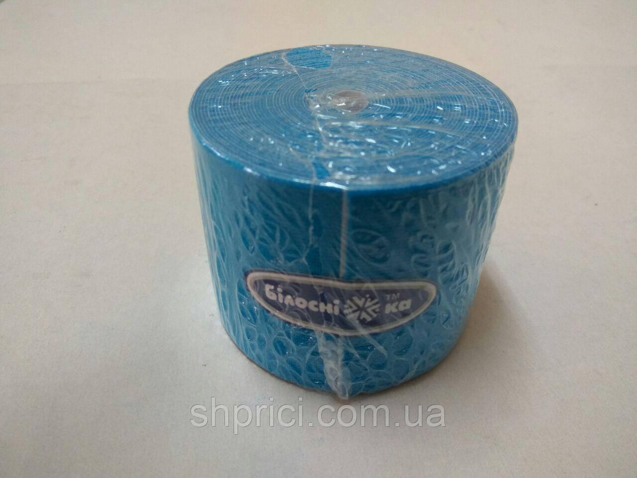 Бинт эластичный малой растяжимости адгезивный 5см х 5м, синий  Кинезио тейп/ Белоснежка