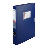 Папка-коробка 36 мм, синя 25051736-02-А