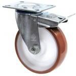 Колеса поворотные из полиуретана Norma с крепеж.панелью,с ролик.подш.Ø80,100,125,150,160,200мм