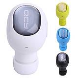 Беспроводная мини гарнитура Bluetooth QCY-Q26 белая, фото 7