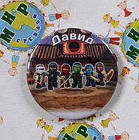 Значок Лего Ниндзяго с именами