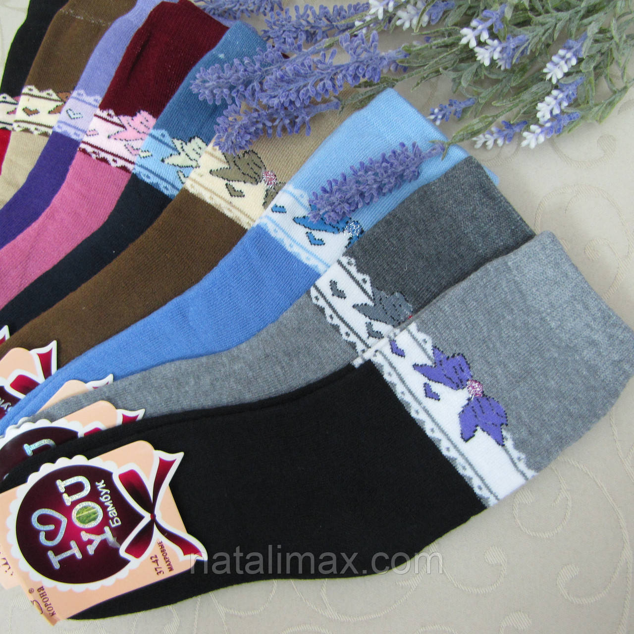 """Носки женские МАХРОВЫЕ. 37-42 р-р . """"Корона"""". Женские теплые зимние носки , утепленные носки для женщин, фото 1"""