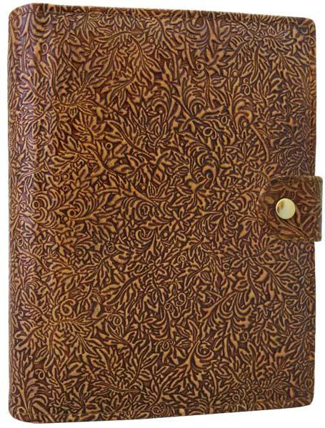 Ежедневник FLT А5  Флора(мелкая) кожаный недатированный
