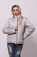 Женская демисезонная стеганная  куртка  ПС-1 сталь 54-66 размеры