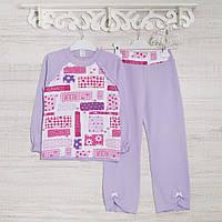 Детские пижамы для девочек 128см, 2207инк, хлопок-интерлок, в наличии 116,122,128 Рост