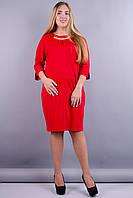 Дюна. Платья супер батал. Красный., фото 1