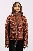Женская демисезонная стеганная  куртка  ПС-1 коричневая 54-66 размеры