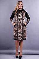 Ливана. Платья супер батал. Леопард., фото 1