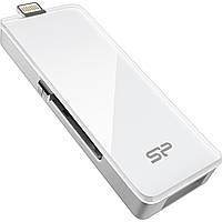 USB 3.0 флешка SiliconPower xDrive Z30 Lightning 32Gb White ( SP032GBLU3Z30V1W ) for Apple devices