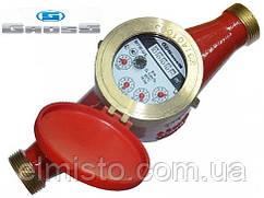 """Счётчик GROSS MTW-UA Dn25, L=260мм, Qn=3,5m3/ч многоструйный на горячую воду 1"""""""