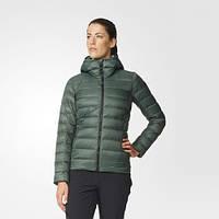 Спортивная куртка женская с капюшоном adidas Light Down Hooded AP8738